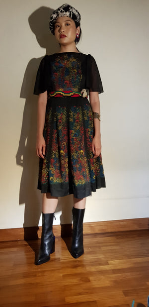 FOLKSY FLOWER DRESS