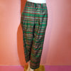 CHECKERED TROUSER GREEN MULTI