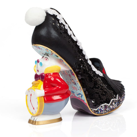 ALICE IN WONDERLAND - WHITE RABBIT (BLACK SEQUIN)