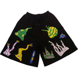 BACTERIA PATCHES SHORTS BLACK