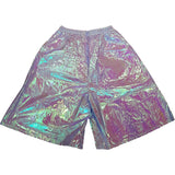 BACTERIA PATCHES SHORTS LASER BLUE