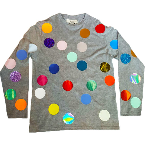 BALLS LONG SLEEVE TEE GREY