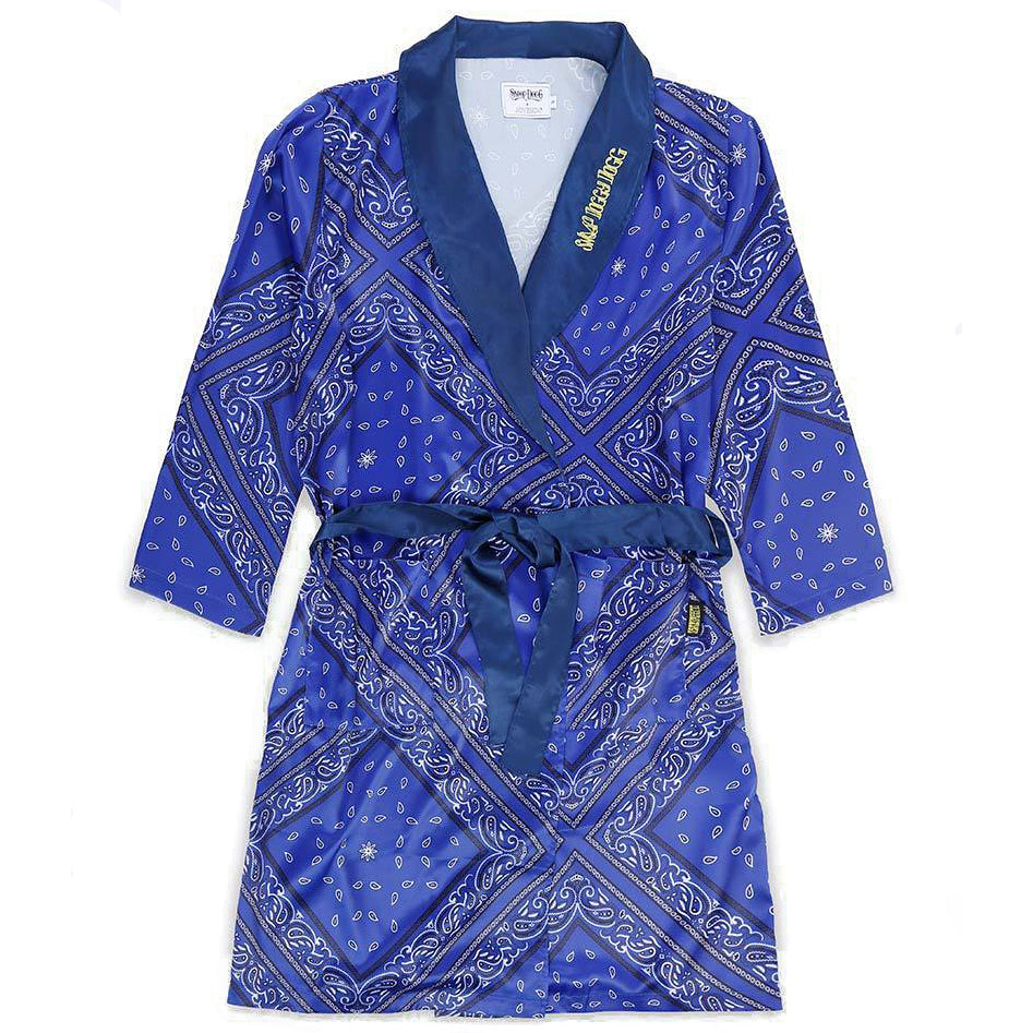 Bandana Silk Robe Oversized / Blue