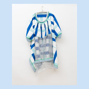BLUE SQUARE DEWICECIL DRESS