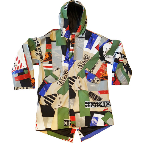 PAPERTAPE PATCHWORK ARMY COAT