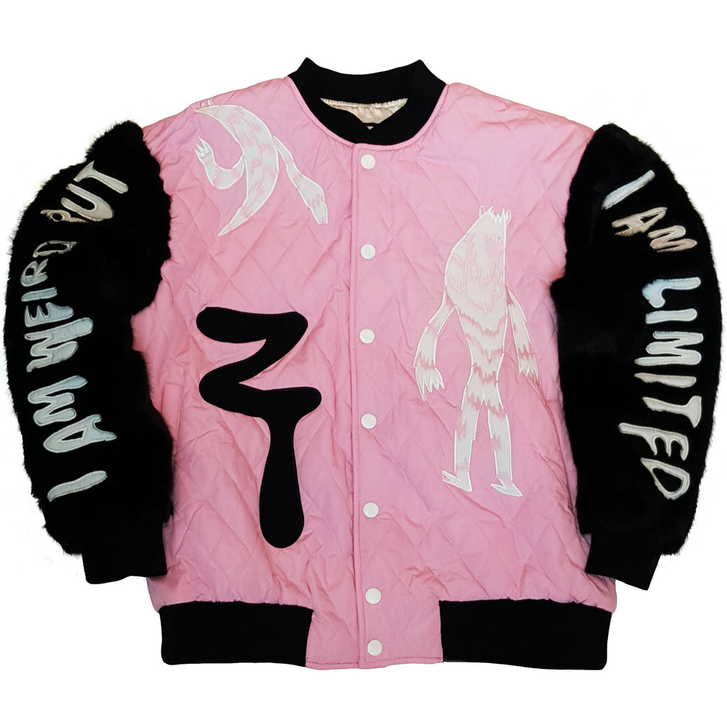 PINK FUR PATCHES JACKET