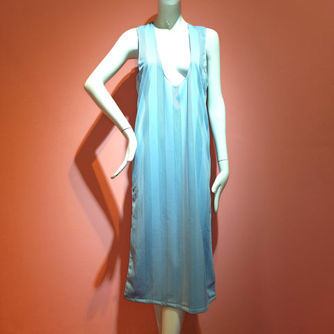 Baby Blue Drop Neckline Dress