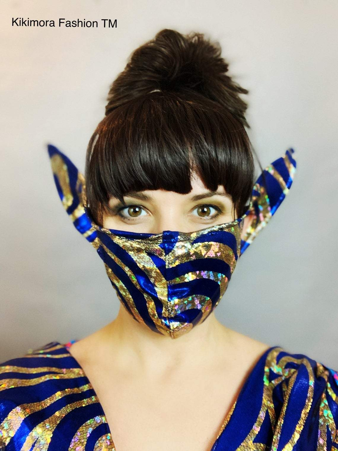 HOLO STRIPE ELF MASK