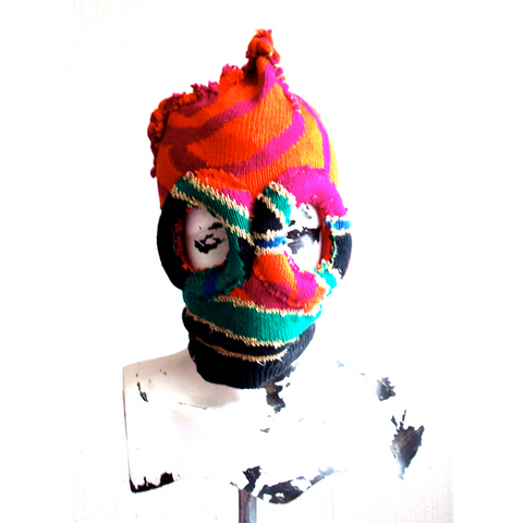 ORANGE SWEATER DECONSTRUCTED MASK