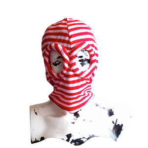 RED STRIPED LYCRA MASK