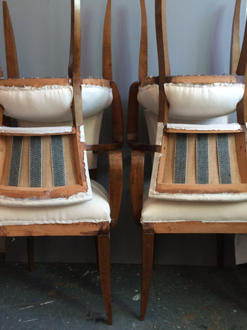 Bridge Chairs restored by Kiki Voltaire