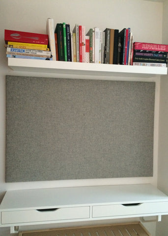 Large Fabric Notice Board | Grey Felt Wool