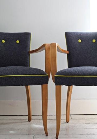 Bridge Chairs | Covered in Moon Wool Felt Fabric