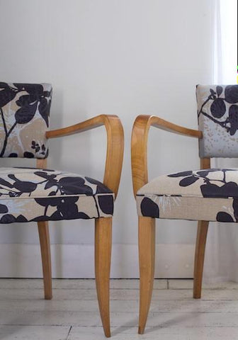 Bridge Chairs | Covered in Robert Le Heros Fabric
