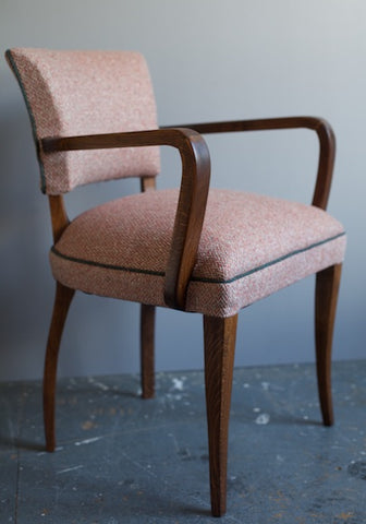 French Vintage Bridge Chairs restored by Kiki Voltaire in Markham wool fabric from Osborne & Little