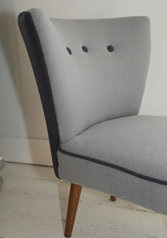 Storm | Fifties Cocktail Chair | Covered in Bute Fabric