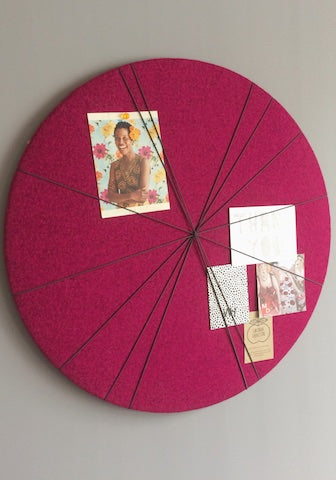 Kiki Voltaire Contemporary Notice Board in Pink Wool Felt