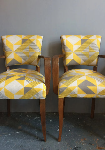 Bridge Chairs | Covered in Tamasyn Gambell Fabric