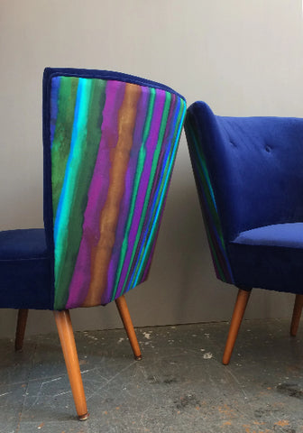 Vintage Velvet Cocktail Chairs