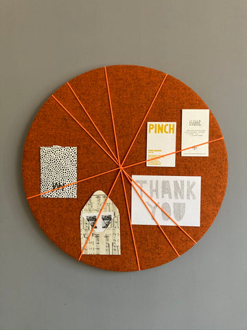 MINi Pin Board in Orange Felt by Kiki Voltaire