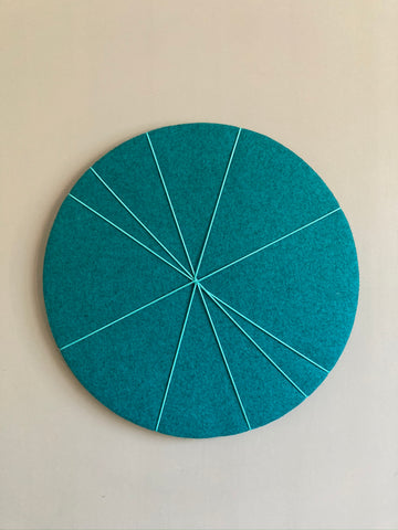 MINi Pin Board in Teal Felt by Kiki Voltaire