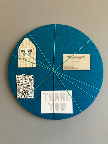 MINi Pin Board in Blue Felt by Kiki Voltaire