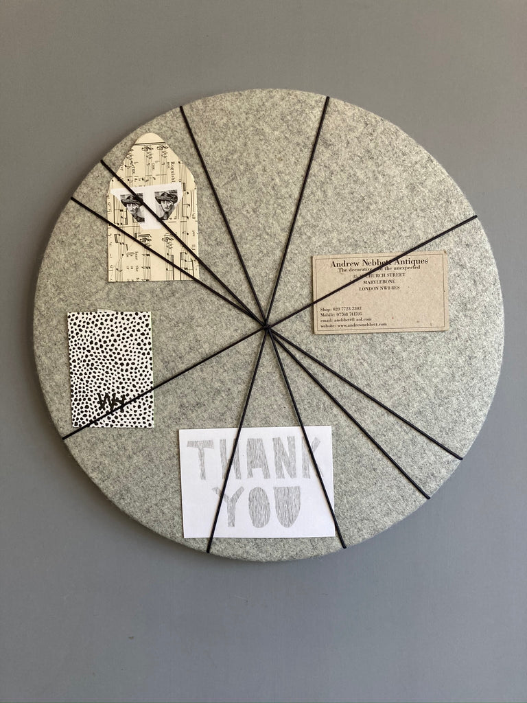 MINi Pin Board in Grey Felt by Kiki Voltaire