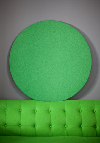 Contemporary Felt Notice Board in Green Wool Fabric
