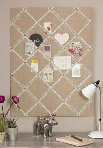 Fabric Notice Board | Natural Linen
