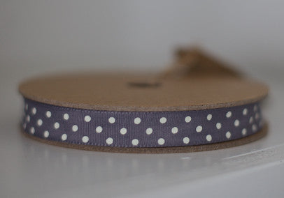 Charcoal Dotty Ribbon