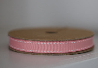 Pink Ribbon With White Stitch