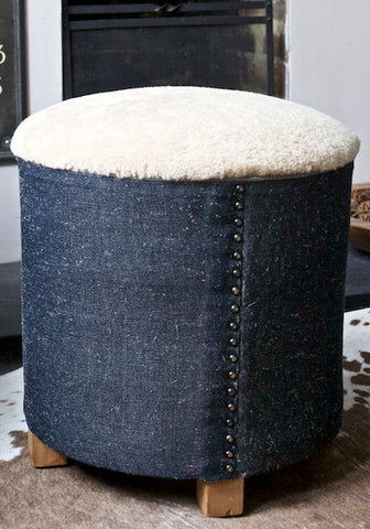 Stool in sheepskin