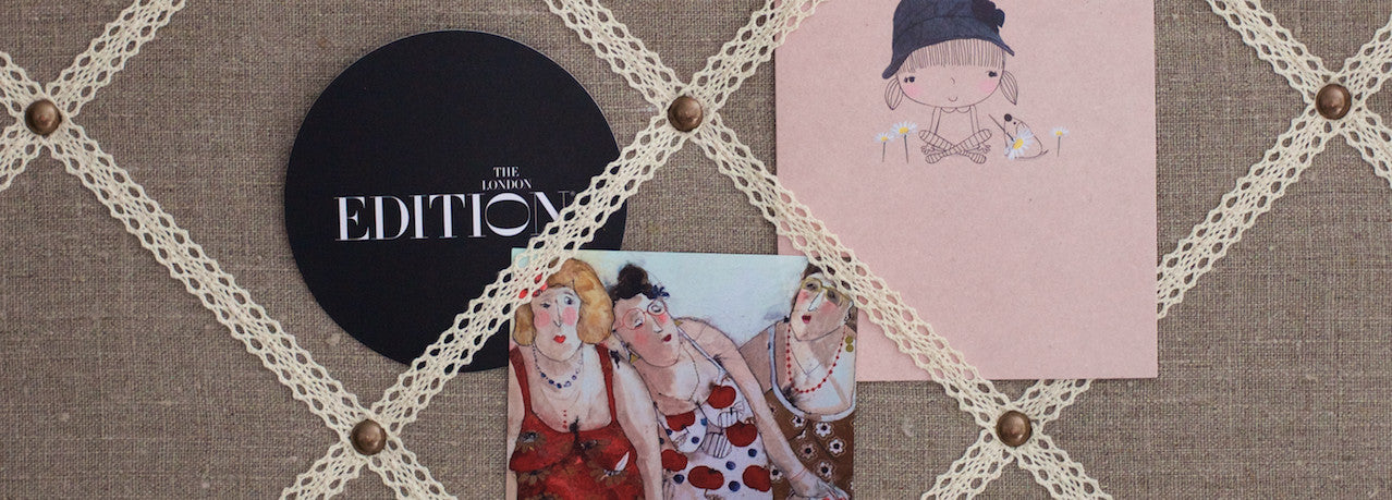 Kiki Voltaire Fabric Notice Board