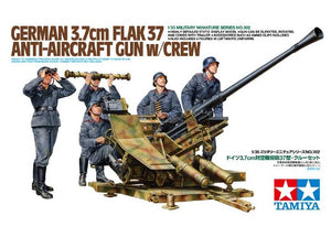 Tamiya German 3.7cm Flak 37 Anti-Aircraft Gun w/crew