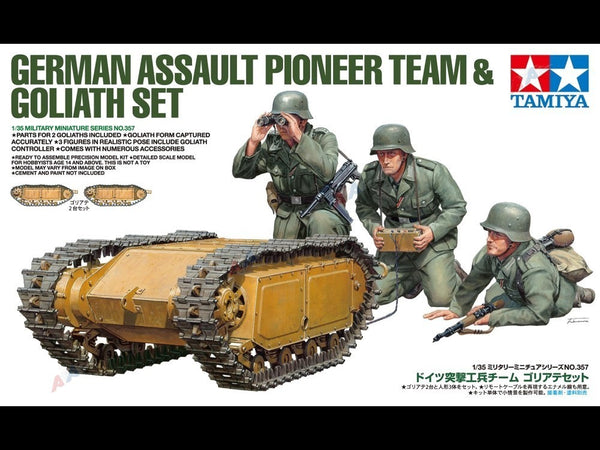 Tamiya German Assault Pioneer Team & Goliath