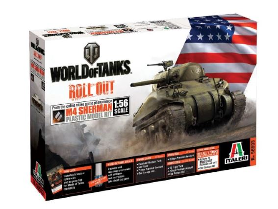Italeri World of Tanks: M4 SHERMAN