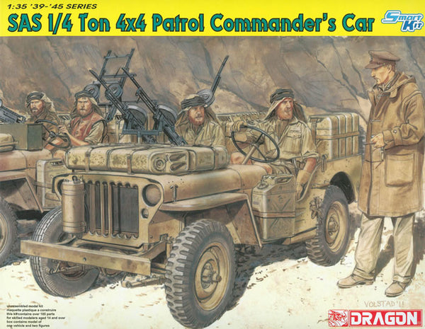 Dragon 1/35 SAS 1/4 Ton 4x4 Patrol Commander's Car
