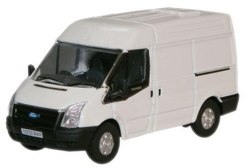 Oxford Diecast Ford Transit Van (M.Roof) Frozen White - 76FT001