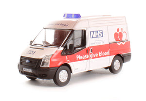 Oxford Diecast Ford Transit NHS Blood Donor Van - 76FT008
