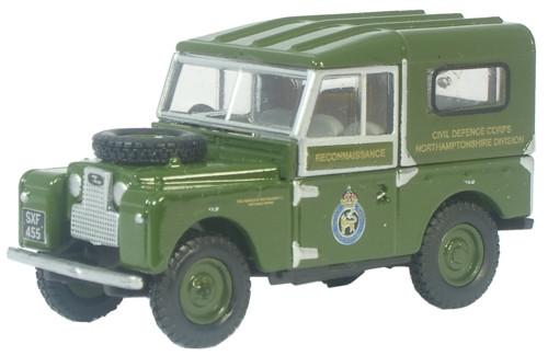 Oxford Diecast Land Rover Civil Defence - 76LAN188001