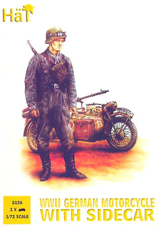 HaT 8126 German Motorcycle and Side Car