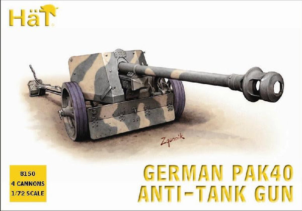 HaT 8150 German PaK40 Anti-Tank Gun