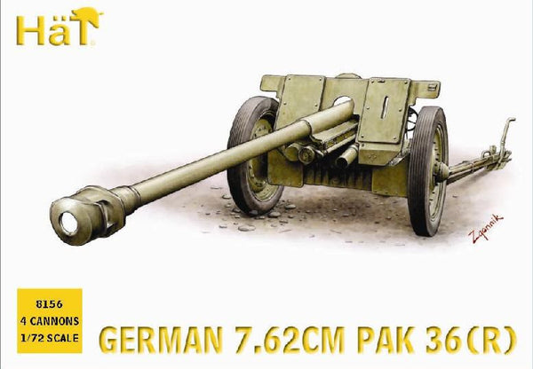 HaT 8156 German 7.62cm PaK36r Anti-Tank Gun