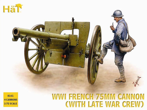 HaT 8161 WWI French 75mm Cannon (With Late War Crew)