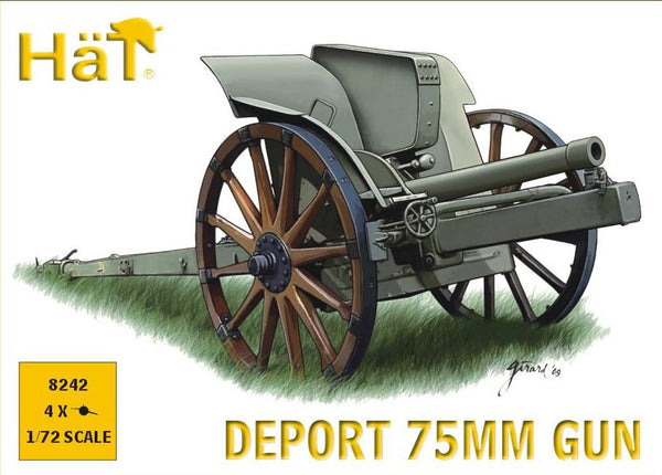 HaT 8242 WWI Italian 75mm Deport Gun