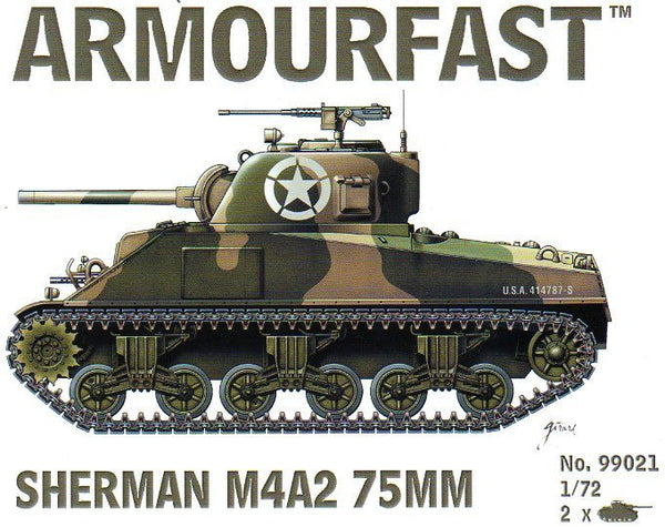Armourfast 99021 Sherman M4A2 75mm