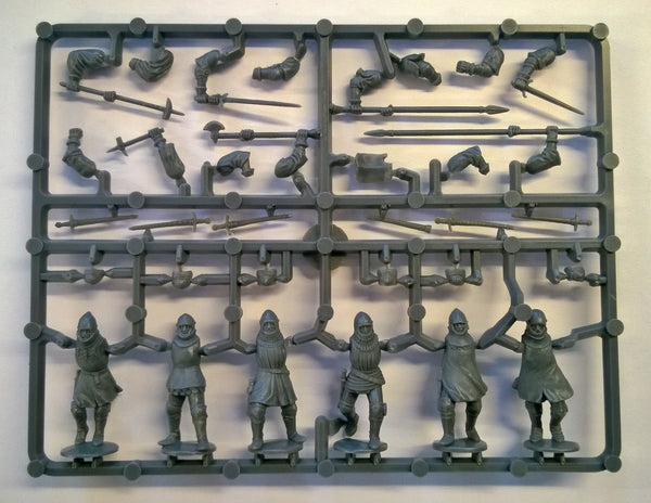 Perry Miniatures Agincourt French Foot Knights1415-1429 Sprue