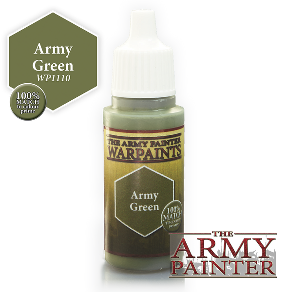 Army Painter Acrylic Warpaint - Army Green