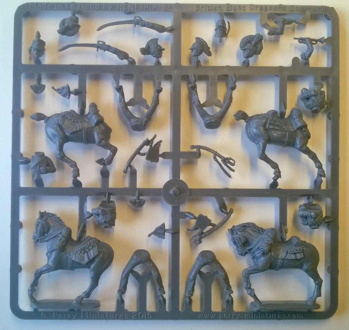 Perry Miniatures Napoleonic British Light Dragoons Command sprue