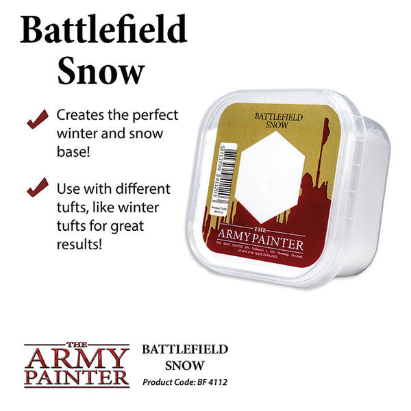 Army Painter Basing: Battlefield Snow